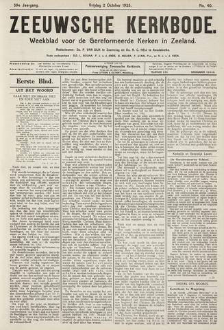 Zeeuwsche kerkbode, weekblad gewijd aan de belangen der gereformeerde kerken/ Zeeuwsch kerkblad 1925-10-02