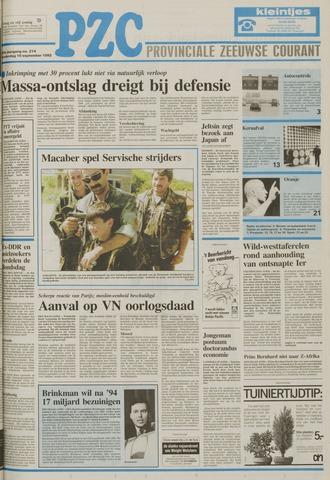 Provinciale Zeeuwse Courant 1992-09-10