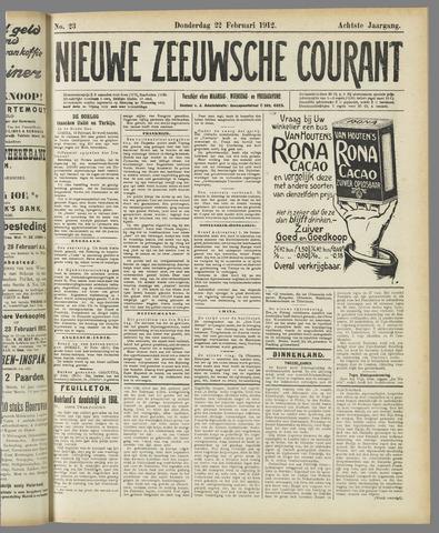 Nieuwe Zeeuwsche Courant 1912-02-22