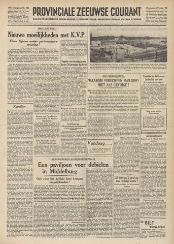 Provinciale Zeeuwse Courant 1952-08-20