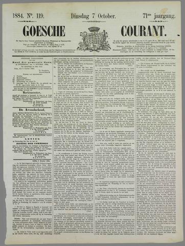 Goessche Courant 1884-10-07