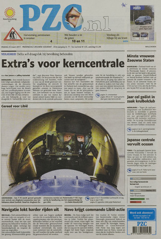 Provinciale Zeeuwse Courant 2011-03-25