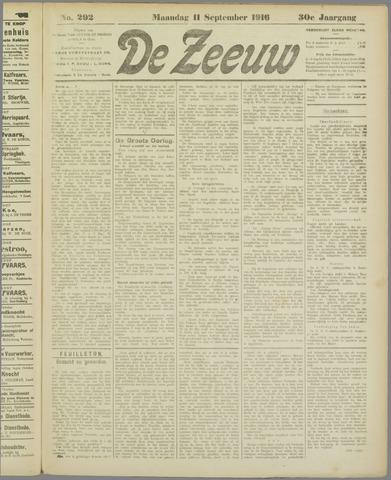 De Zeeuw. Christelijk-historisch nieuwsblad voor Zeeland 1916-09-11
