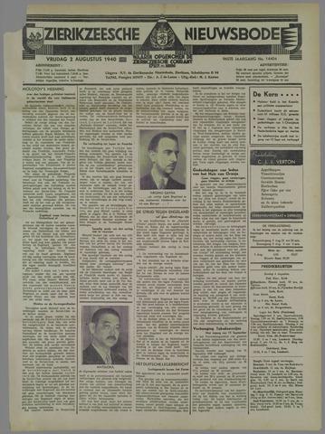 Zierikzeesche Nieuwsbode 1940-08-02