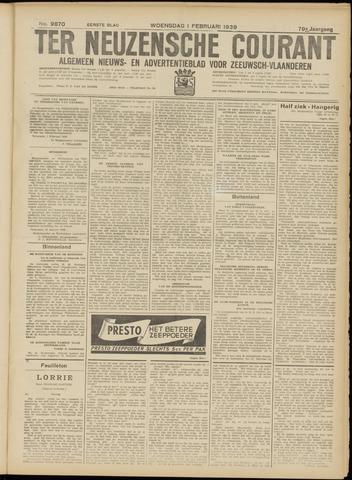 Ter Neuzensche Courant. Algemeen Nieuws- en Advertentieblad voor Zeeuwsch-Vlaanderen / Neuzensche Courant ... (idem) / (Algemeen) nieuws en advertentieblad voor Zeeuwsch-Vlaanderen 1939-02-01