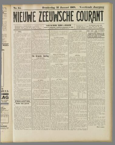Nieuwe Zeeuwsche Courant 1918-01-31