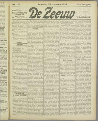 De Zeeuw. Christelijk-historisch nieuwsblad voor Zeeland 1924-08-23