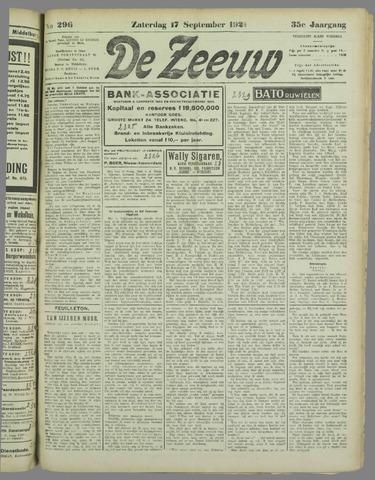 De Zeeuw. Christelijk-historisch nieuwsblad voor Zeeland 1921-09-17