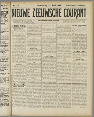 Nieuwe Zeeuwsche Courant 1917-06-21