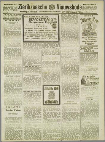 Zierikzeesche Nieuwsbode 1926-06-21