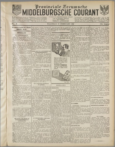 Middelburgsche Courant 1930-02-17