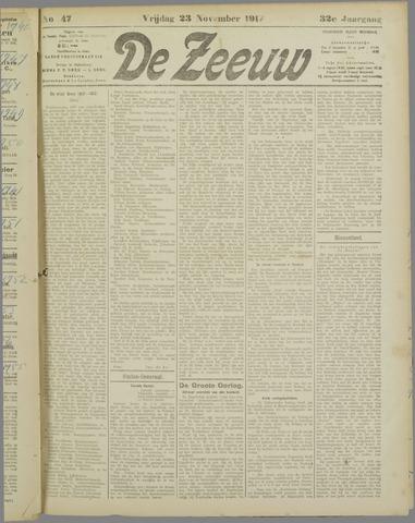 De Zeeuw. Christelijk-historisch nieuwsblad voor Zeeland 1917-11-23