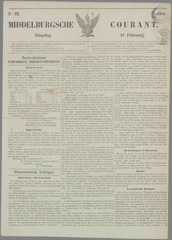 Middelburgsche Courant 1854-02-21