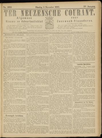 Ter Neuzensche Courant. Algemeen Nieuws- en Advertentieblad voor Zeeuwsch-Vlaanderen / Neuzensche Courant ... (idem) / (Algemeen) nieuws en advertentieblad voor Zeeuwsch-Vlaanderen 1911-12-05