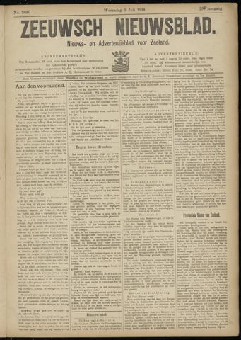 Ter Neuzensch Volksblad. Vrijzinnig nieuws- en advertentieblad voor Zeeuwsch- Vlaanderen / Zeeuwsch Nieuwsblad. Nieuws- en advertentieblad voor Zeeland 1918-07-03