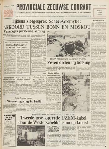 Provinciale Zeeuwse Courant 1970-08-07