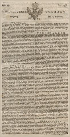 Middelburgsche Courant 1768-02-23