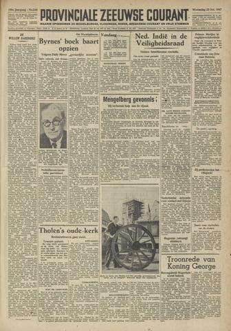 Provinciale Zeeuwse Courant 1947-10-22