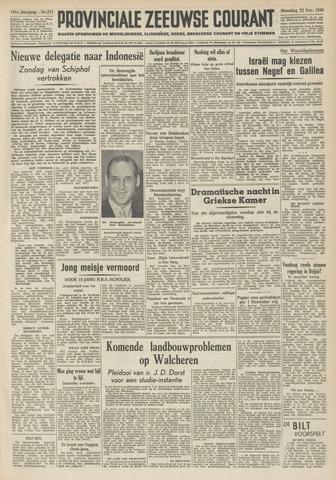 Provinciale Zeeuwse Courant 1948-11-22