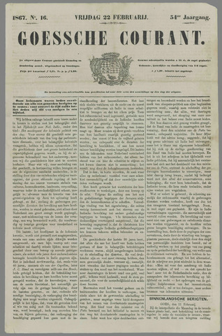 Goessche Courant 1867-02-22