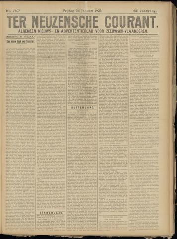 Ter Neuzensche Courant. Algemeen Nieuws- en Advertentieblad voor Zeeuwsch-Vlaanderen / Neuzensche Courant ... (idem) / (Algemeen) nieuws en advertentieblad voor Zeeuwsch-Vlaanderen 1923-01-26