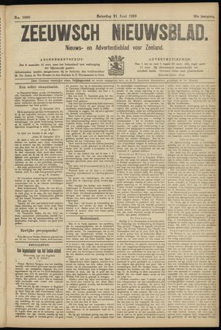 Ter Neuzensch Volksblad. Vrijzinnig nieuws- en advertentieblad voor Zeeuwsch- Vlaanderen / Zeeuwsch Nieuwsblad. Nieuws- en advertentieblad voor Zeeland 1919-06-21