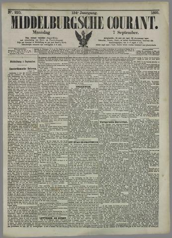Middelburgsche Courant 1891-09-07