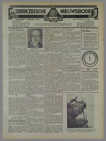 Zierikzeesche Nieuwsbode 1940-02-07