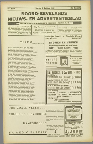 Noord-Bevelands Nieuws- en advertentieblad 1938-10-08