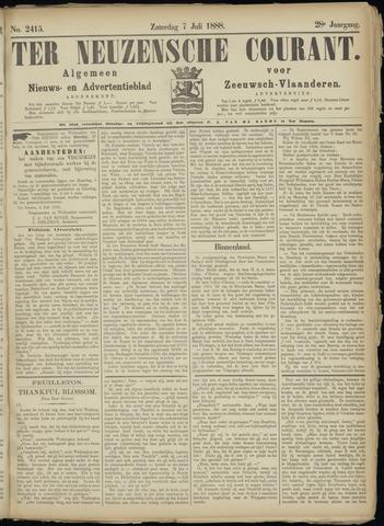 Ter Neuzensche Courant. Algemeen Nieuws- en Advertentieblad voor Zeeuwsch-Vlaanderen / Neuzensche Courant ... (idem) / (Algemeen) nieuws en advertentieblad voor Zeeuwsch-Vlaanderen 1888-07-07