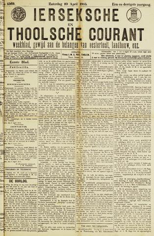 Ierseksche en Thoolsche Courant 1915-04-10