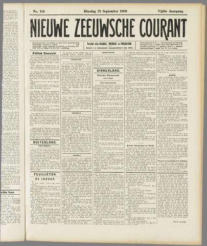Nieuwe Zeeuwsche Courant 1909-09-28