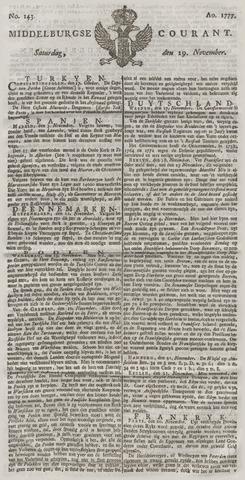 Middelburgsche Courant 1777-11-29