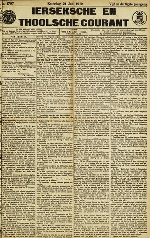 Ierseksche en Thoolsche Courant 1919-06-21