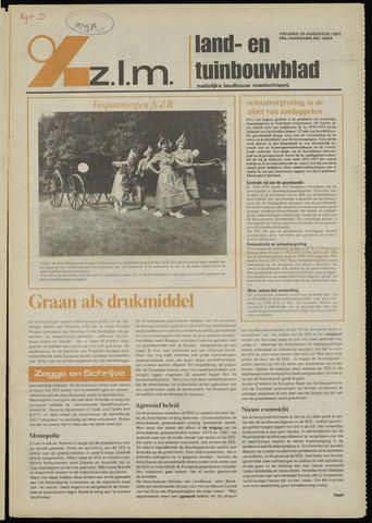 Zeeuwsch landbouwblad ... ZLM land- en tuinbouwblad 1982-08-20