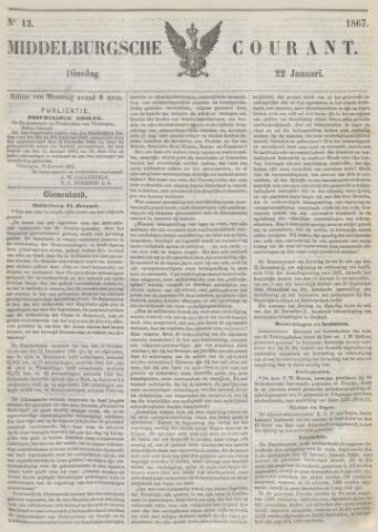Middelburgsche Courant 1867-01-22