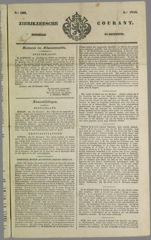 Zierikzeesche Courant 1844-12-24