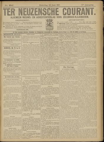 Ter Neuzensche Courant. Algemeen Nieuws- en Advertentieblad voor Zeeuwsch-Vlaanderen / Neuzensche Courant ... (idem) / (Algemeen) nieuws en advertentieblad voor Zeeuwsch-Vlaanderen 1917-06-23