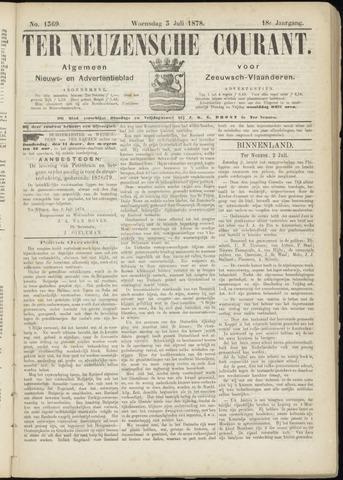 Ter Neuzensche Courant. Algemeen Nieuws- en Advertentieblad voor Zeeuwsch-Vlaanderen / Neuzensche Courant ... (idem) / (Algemeen) nieuws en advertentieblad voor Zeeuwsch-Vlaanderen 1878-07-03