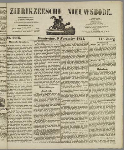 Zierikzeesche Nieuwsbode 1854-11-09