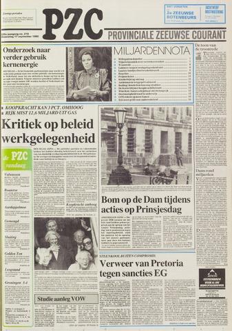 Provinciale Zeeuwse Courant 1986-09-17