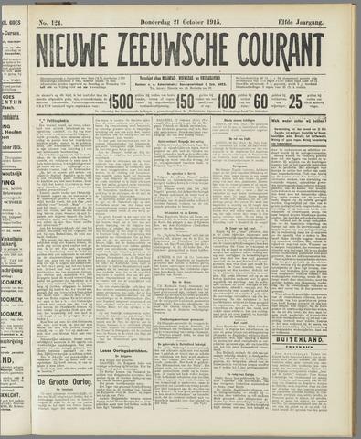 Nieuwe Zeeuwsche Courant 1915-10-21