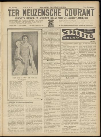 Ter Neuzensche Courant. Algemeen Nieuws- en Advertentieblad voor Zeeuwsch-Vlaanderen / Neuzensche Courant ... (idem) / (Algemeen) nieuws en advertentieblad voor Zeeuwsch-Vlaanderen 1938-08-31