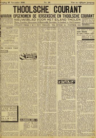 Ierseksche en Thoolsche Courant 1936-11-27