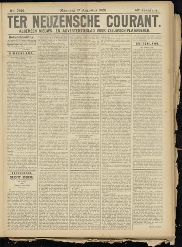 Ter Neuzensche Courant. Algemeen Nieuws- en Advertentieblad voor Zeeuwsch-Vlaanderen / Neuzensche Courant ... (idem) / (Algemeen) nieuws en advertentieblad voor Zeeuwsch-Vlaanderen 1923-08-27