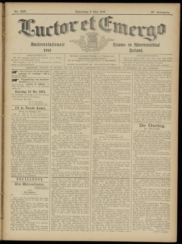 Luctor et Emergo. Antirevolutionair nieuws- en advertentieblad voor Zeeland / Zeeuwsch-Vlaanderen. Orgaan ter verspreiding van de christelijke beginselen in Zeeuwsch-Vlaanderen 1915-05-08