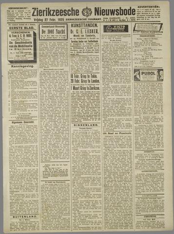 Zierikzeesche Nieuwsbode 1925-02-27