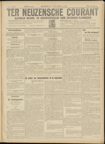 Ter Neuzensche Courant. Algemeen Nieuws- en Advertentieblad voor Zeeuwsch-Vlaanderen / Neuzensche Courant ... (idem) / (Algemeen) nieuws en advertentieblad voor Zeeuwsch-Vlaanderen 1936-10-07