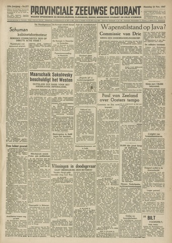 Provinciale Zeeuwse Courant 1947-11-24