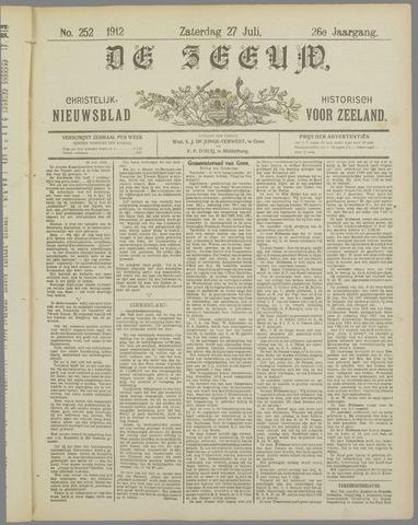 De Zeeuw. Christelijk-historisch nieuwsblad voor Zeeland 1912-07-27